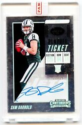 2018 Panini Contenders Playoff Ticket Sam Darnold Auto Rc /15 🔥🔥sealed