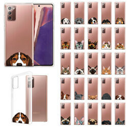 For Samsung Galaxy Note 20 2020 6.7quot; Slim Animal TPU Clear Silicone Case Cover
