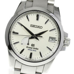 Grand Seiko Sbga025/9r65-0ag1 Date Power Reserve Spring Drive Menand039s Watch_616581