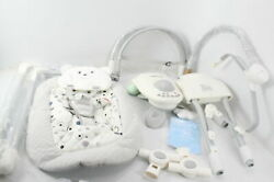 Ronbei Baby Swing For Infants Cradle Electric Baby Mobile Chair Light Grey