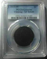 1810/09 Classic Head Large Cent Pcgs Xf Rare Overdate Super Fast Shipping