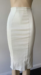 Scanlan Theodore Stretch Leather Midi Skirt Size 6 - Fits Small 8 Too