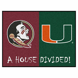 House Divided - Florida State / Miami House Divided Rug