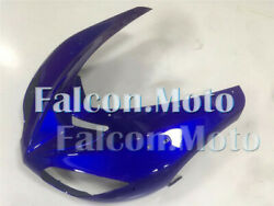 Blue Injection Front Nose Cowl Fairing Fit For 2006-2007 06-07 Ninja Zx10r Aah