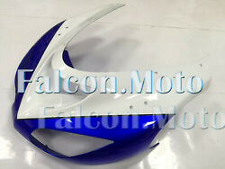 White Blue Injection Front Nose Cowl Fairing For 2006-2007 Kawasaki Ninja Zx-10r