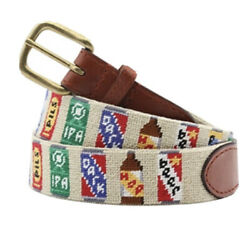 Smathers And Branson Beer Cans Belt. Bnwt Sz 34. Limited. Retails 175