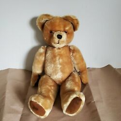 Vintage Pedigree Mohair Jointed Teddy Bear Irish Large Musical Box Wind Up Gold