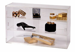 2-shelf Acrylic Countertop Display Case Comes With Lock And Key