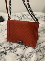 chanel bag authentic Red $3800.00