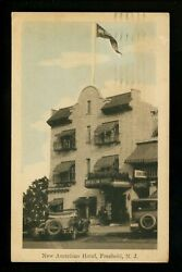 Freehold, New Jersey Nj Vintage Postcard New American Hotel 1930 Street View