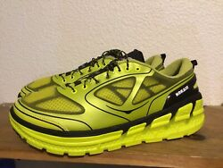 Menandrsquos Hoka One One Conquest Sz 12 Empire Yellow Black Cushioned Running Shoe