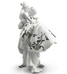 Lladro Man Lady Wedding The Happiest Day Couple Silver Luster 01007055