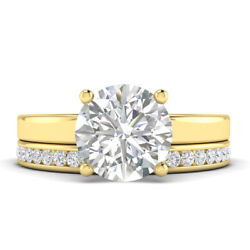 0.91ct D-si1 Diamond Plain Band Engagement Ring 18k Yellow Gold Any Size