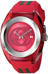 Sync Xxl Red Rubber Silicone Red Dial Unisex Watch Ya137103