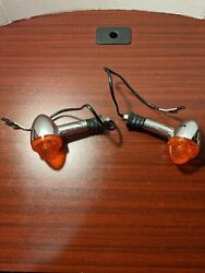 2012 12 Triumph Thruxton 900 Right And Left Front Turn Signals Oem 1858