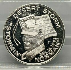 Desert Storm Stormin Norman Support Those Who Serve 1oz .999 Fine Silver Round