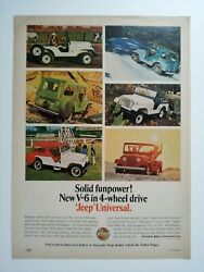 1966 Jeep Universal V6 Ad - Must See
