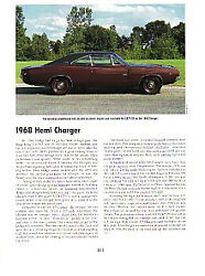 1968 Dodge Charger 426 Hemi Article - Must See