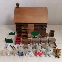 Sylvanian Families Initial Log Cabin Animal Doll Accessories Calico Critters