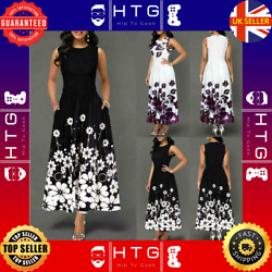 Elegant Long Dresses Floral Fashion Clothes For Women Casual Party 2020 New Sun GBP 16.62
