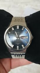 Vintage Seiko Lm Lord Matic Automatic 5606-8060 Blue Dial 37mm Watch