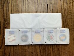 5 Sealed Lego Vip Collectible Coins + Display Case -complete Set In Hand W/ Case