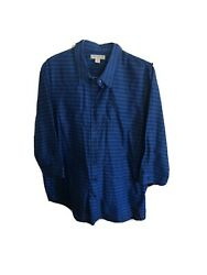 Coldwater Creek Easy Striped Womens Shirt 1x 18