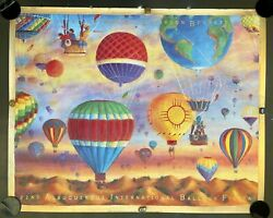 Albuquerque International Balloon Fiesta 1993 Poster Signed Twice And Inscribed