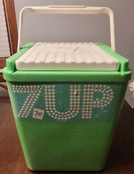 Rare Vintage 7up Soda 12x12x14 Cooler Tote W/ Cold Pack Case Advertising