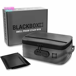 Stash Box Smell Proof Container Ballistic Shell With Waterproof Coating Gray New