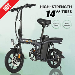 350w 14 Folding Electric Bicycle Bike20mph W/ 48v 20ah Removable Battery Top 1