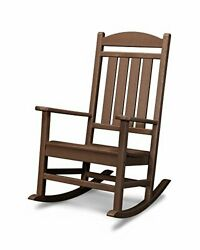 R100ma Presidential Outdoor Rocking Chair, Mahogany