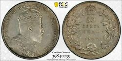 Canada, 1907 Edward Vii Fifty Cents, 50 Cents. Pcgs Xf 45. 300,000 Mintage.