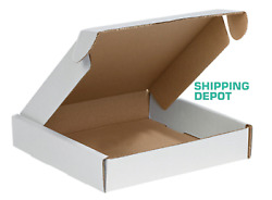 10x10x2 White Corrugated Mailer Front Locking Sturdy Safe Shipping Boxes