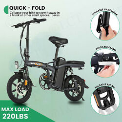 350w 14 Folding Electric Bicycle Bike 25mphw/48v 20ah Removable Battery Ebike