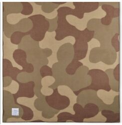 Woolrich Camo Soft Wool Blanket Camouflage Green Brown Tan Throw