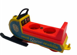 Vintage Fisher Price Toys Little People Mini Snowmobile 1970 705 Usa Toy
