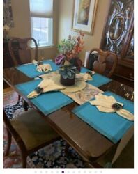 Antique Dining Room Table Chairs Butler Chest China Cabinet