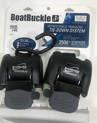 Boatbucle Retractable Transom Tie-down System F08893 Adjust To 43andrdquo