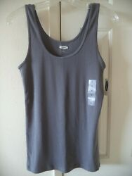 Must Have Basic Old Navy Slate Grey Ribbed Knit Tank Top Cami Xxl 1x 2x 3x 4x