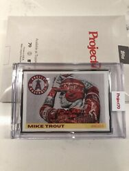Topps Project 70 - Mike Trout By Lauren Taylor - Artist Proof 22/51