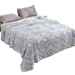 Blanket For Summer Gauze Of Three Layers Pure Cotton Thin Blankets Bed Cover Set