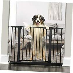 """46""""auto Close Safety Baby Gate, Extra Tall And Wide Child Gate, Easy Black"""