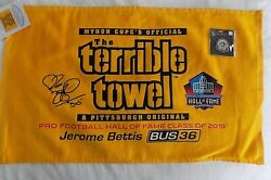 Pittsburgh Steelers Jerome Bettis Hall Of Fame Terrible Towel Plus Lapel Pin