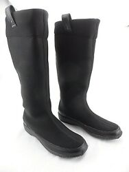 Aetrex Women's Black Berries Pull-on Stretch Comfort Mid Calf Boots Size 5 W
