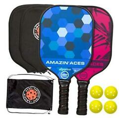 Signature Pickleball Paddle Set | Usapa Approved | Graphite Face And Polymer