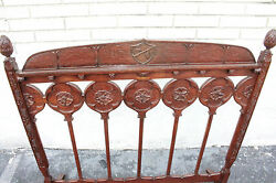 Spanish Revival Hand Crafted Cherry Fire Screen 19th C.