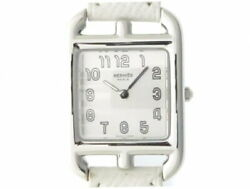 Hermes Cape Cod Double Tour Cc1.210 Used Watch Slv Arabic Dial Ss Lh Belt Ss Ldy
