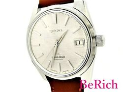 Seiko Grand 5722-9991 Used Menand039s Watch Antique Ss Le Man Wind Slv Dial Gs Oh