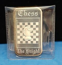 Vintage Madison Mint - Chess - The Knight 1oz. .999 Fine Silver Art Bar - A8